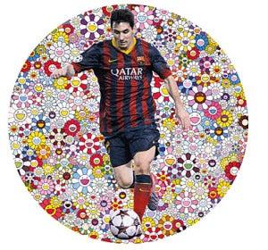 El cuadro 'Lionel Messi y un universo de flores'