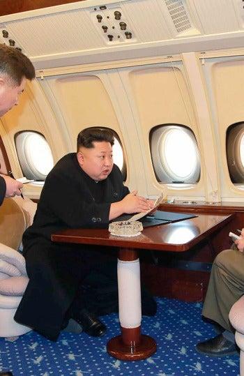 Kim Jong.un, en su jet privado