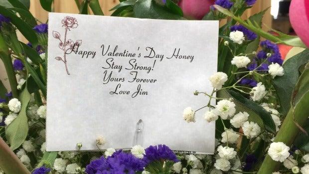 'Feliz San Valentín cariño'