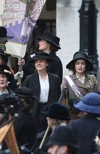 Helena Bonham Carter y Carey Mulligan en 'Suffragette'