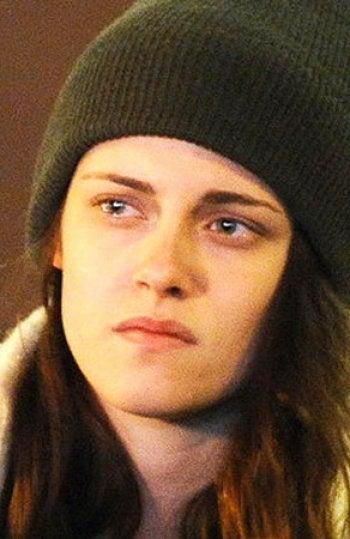 Kristen Stewart durante el rodaje de 'Anesthesia'
