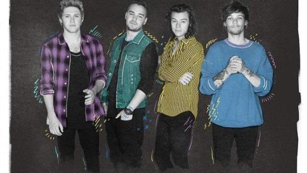 Cartel de One Direction sin Zayn Malik