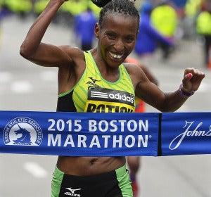 Caroline Rotitch, ganadora de la carrera femenina de Boston