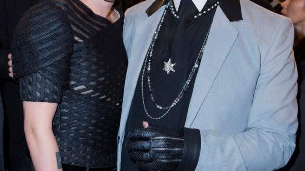 Kristen Stewart con Karl Lagerfeld