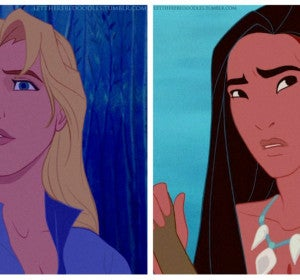 John Smith y Pocahontas