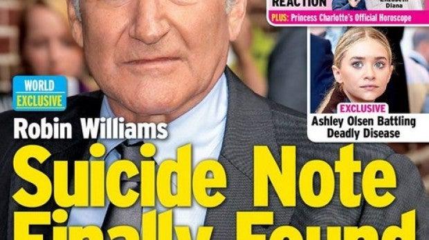 Robin Williams dejó notas antes de morir
