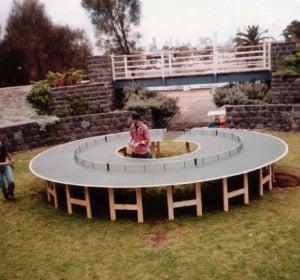 Mesa de ping pong circular