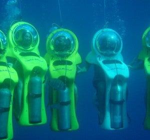 Prepárate para un paseo submarino…!en moto¡