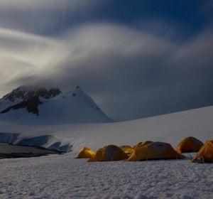 Acampada en la Antártida