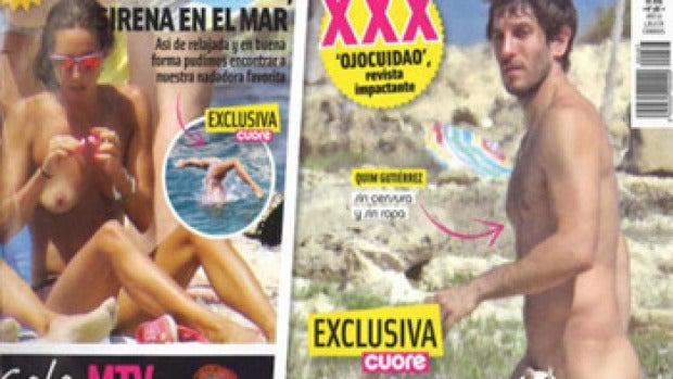 Quim Gutiérrez completamente desnudo, en Cuore