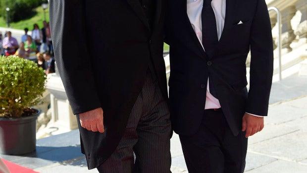 Vicente del Bosque junto a su hijo Álvaro