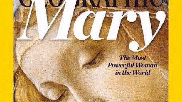 Portada de National Geographic con la Virgen María