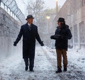 Hanks y Spielberg durante el rodaje