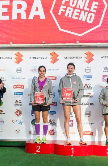 Ganadoras modalidad 10 km femenina de la 7ª Carrera Ponle Freno
