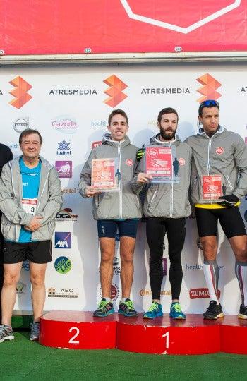 Ganadores modalidad 5 kilómetros Masculina en la 7ª Carrera Ponle Freno