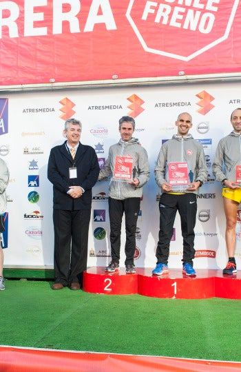 Ganadores modalidad 10 kilómetros masculina 7ª Carrera Ponle Freno