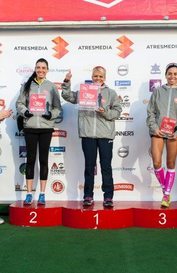 Ganadoras modalidad 5 km femenina de la 7ª Carrera Ponle Freno