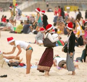 Navidad en una playa australiana