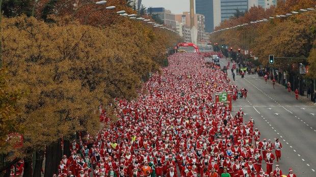 10.000 'Papa Noel' corriendo en Madrid