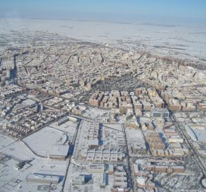 Albacete nevado en enero de 2010
