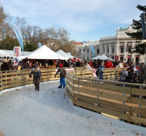 8.000 metros cuadrados de pista de hielo en el centro de Viena