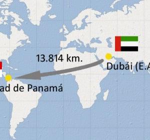 Ruta que trazará el avión de Emirates