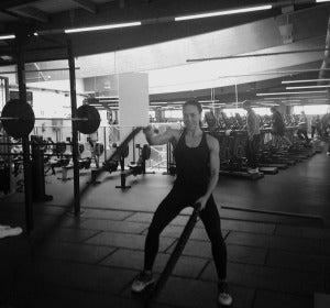 Entrenando con Battle Ropes