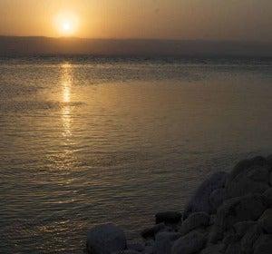 Atardecer en el mar Muerto (Jordania)