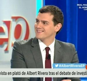 Albert Rivera durante su entrevista el 9 de marzo en Espejo Público