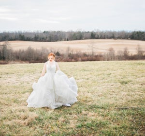 Madeline Stuart, vestida de novia