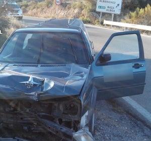 Así quedo el coche tras el accidente