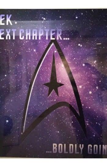 Primer cartel de la serie de Star Trek