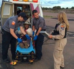 Ann Rodgers tras ser rescatada