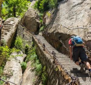 Escalera de la montaña Hua-Scha