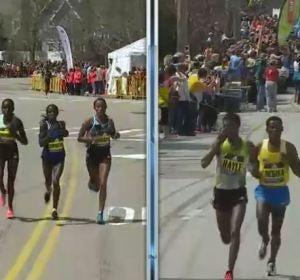 Las tres corredoras y la dupla de corredores