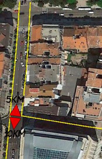 Bifurcación carrera 5 km y 10 km