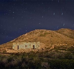 Montaña de Tindaya de noche