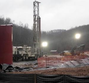 Lugar de un derrame de aguas residuales en West Virginia