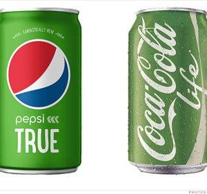 Cocacola y Pepsi con stevia