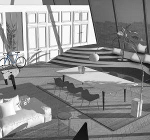 Así ha imaginado Benoit Leleu que será el apartamento en la Torre Eiffel