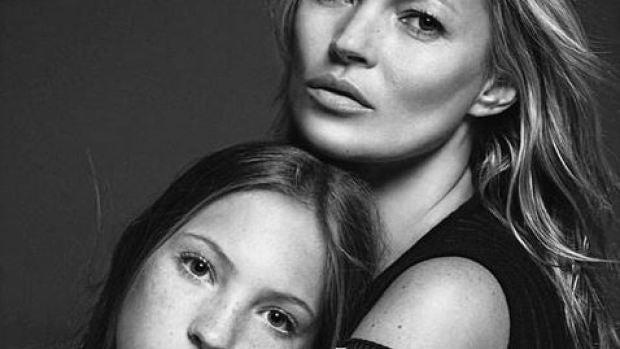 Lila Grace y Kate Moss en Vogue