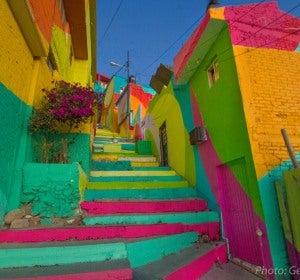 El colorista barrio de Pachuca