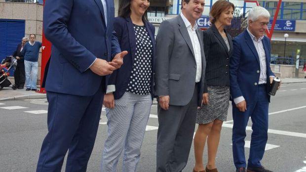 Inauguración del paso de peatones