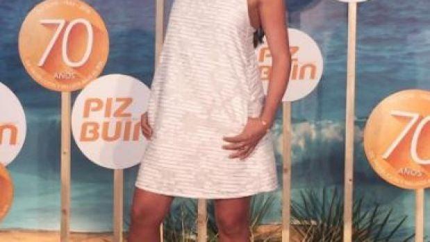 Sara Carbonero en el evento de cremas solares