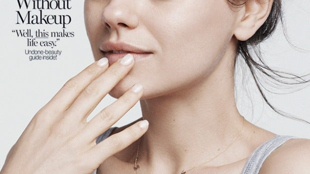 Mila Kunis posa para Glamour sin maquillaje