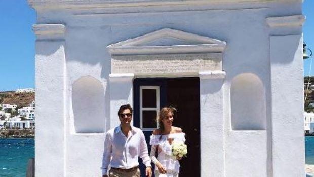 Ana Beatriz Barros y su marido