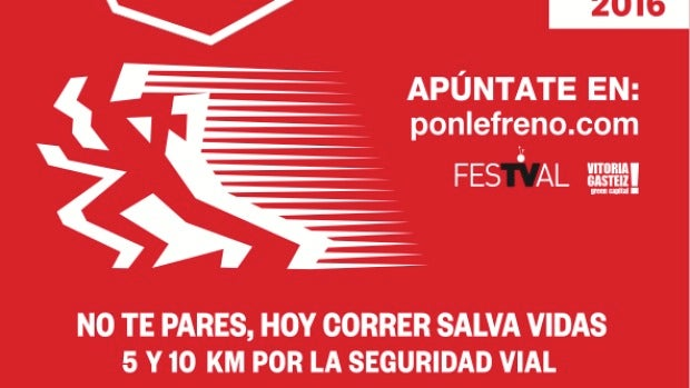 Cartel Carrera Ponle Freno Vitoria 2016