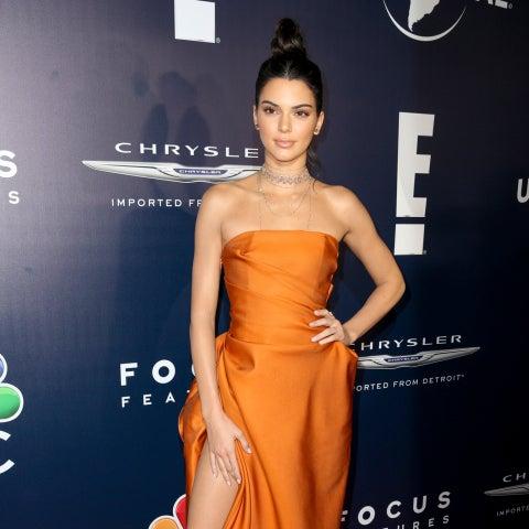 Kendall Jenner en la fiesta de NBC