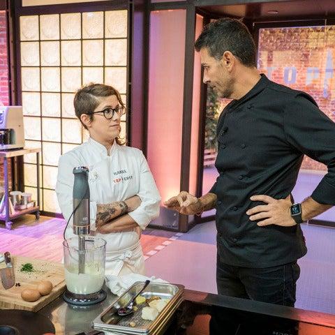 Rakel presenta un plato vacío en la primera prueba de fuego de 'Top Chef'