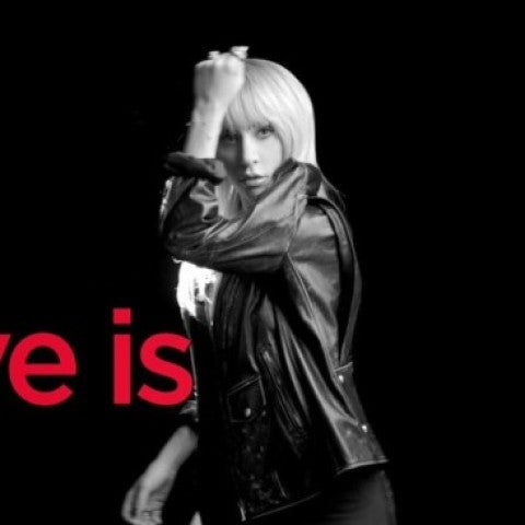 Lady Gaga en la campaña 'The Love Project'